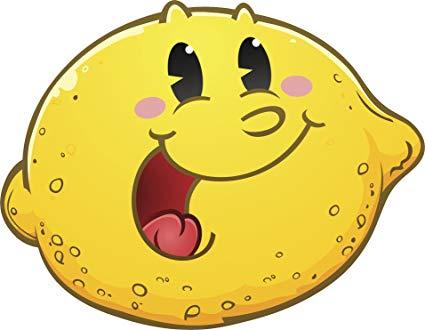 Clipart of a lemon with cute faces graphic transparent download Amazon.com: Cute Happy Retro Lemon Cartoon Emoji Face Vinyl Decal ... graphic transparent download