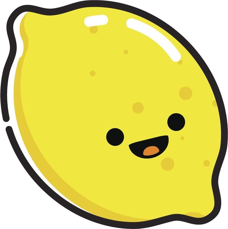 Clipart of a lemon with cute faces picture download Happy Cute Kawaii Fruit Cartoon Emoji - Lemon Vinyl Decal Sticker ... picture download