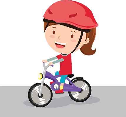 Clipart of a little girl riding a bike banner library stock Bikes and Bicycles - Girl Riding Bike | Clipart | PBS LearningMedia banner library stock
