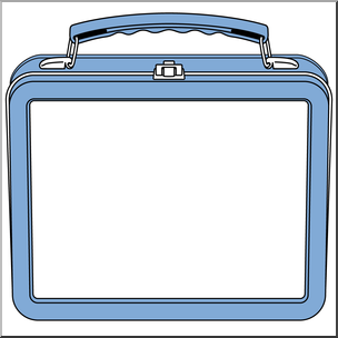 Clipart of a lunch box image library library Clip Art: Lunch Box Blue I abcteach.com | abcteach image library library