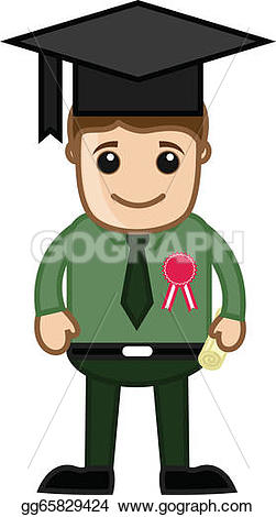 Clipart of a man getting a degree clip art library library EPS Illustration - Graduation degree holder. Vector Clipart ... clip art library library