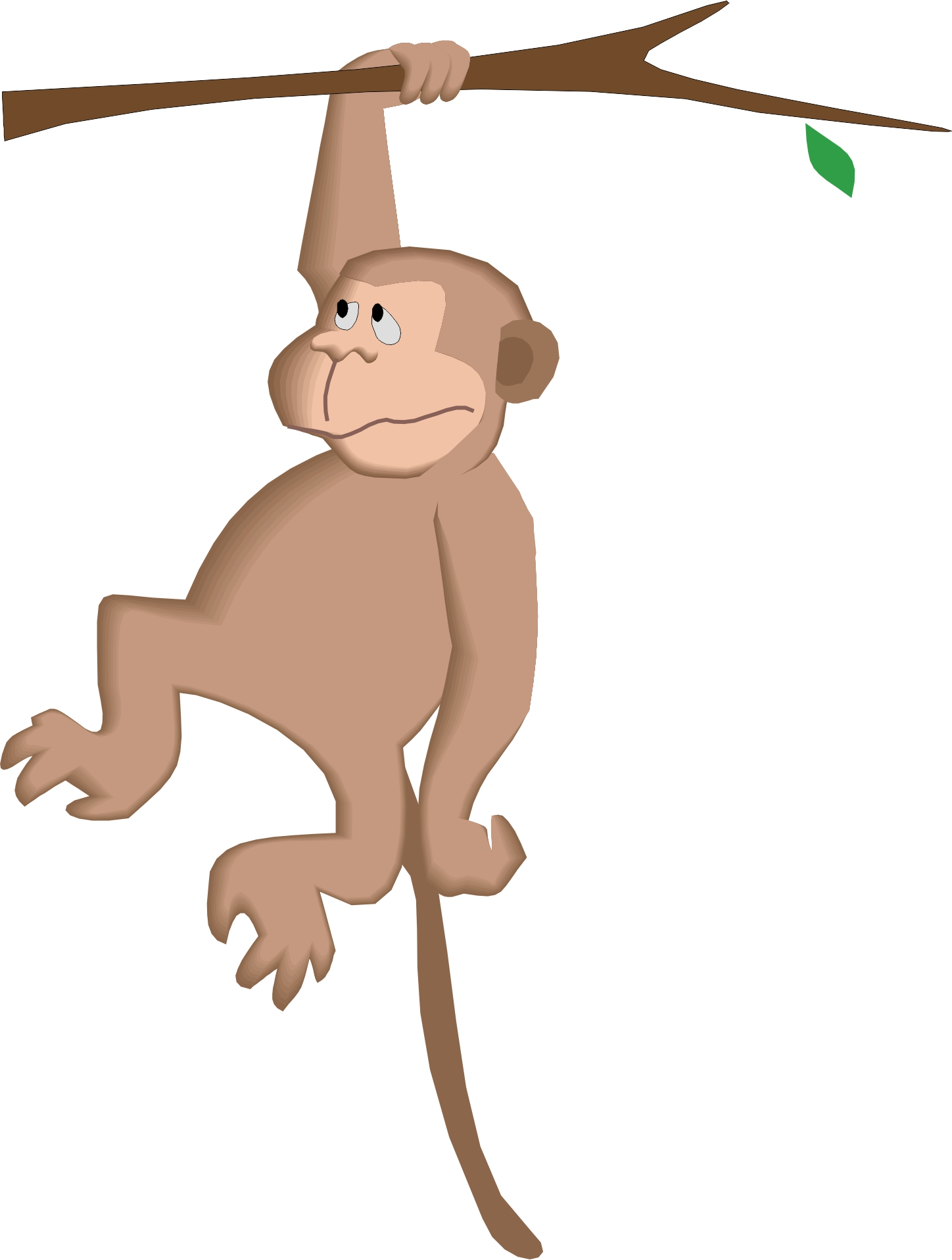 Clipart of a monkey hanging from a tree svg freeuse stock Free Cartoon Monkey Hanging From A Tree, Download Free Clip Art ... svg freeuse stock