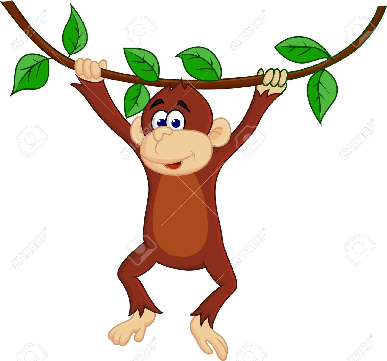 Clipart of a monkey hanging from a tree image library Monkey In A Tree Clipart | Free download best Monkey In A Tree ... image library