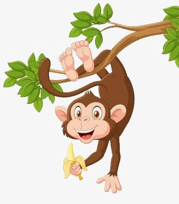 Clipart of a monkey hanging from a tree picture transparent Monkey Hanging In A Tree PNG, Clipart, Banana, Barefoot, Green ... picture transparent
