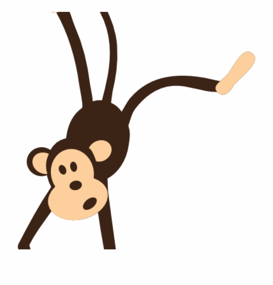 Clipart of a monkey hanging from a tree png freeuse stock Free Monkey Clipart Monkey Clip Art Hanging Monkey - Transparent ... png freeuse stock