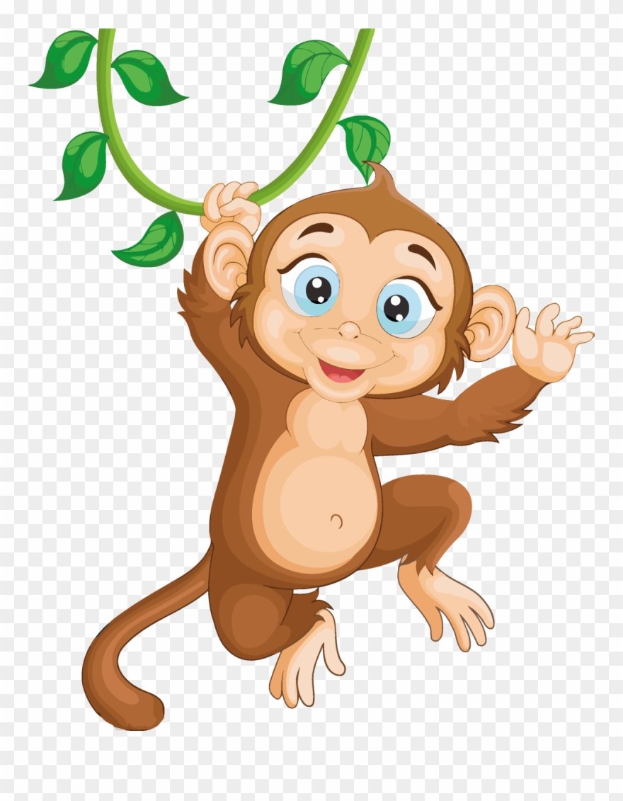 Clipart of a monkey hanging from a tree svg freeuse library Monkey Clipart Png Download Cartoon - Monkey Hang In Tree Cartoon ... svg freeuse library