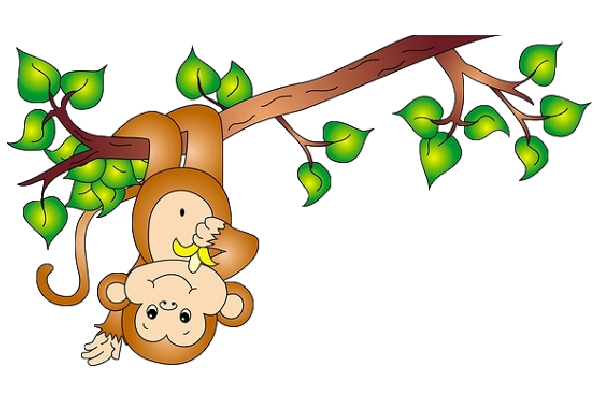 Clipart of a monkey hanging from a tree banner black and white download Clipart monkey hanging from tree » Clipart Portal banner black and white download