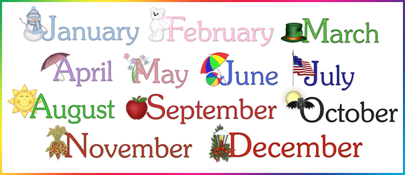 Clipart of a month of a calendar graphic free Clipart for calendar months - ClipartFest graphic free
