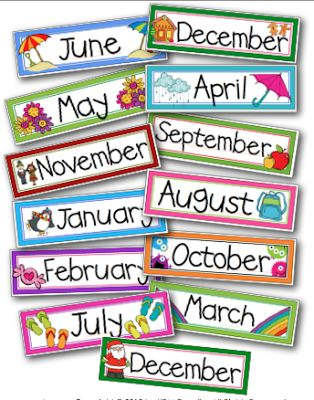 Clipart of a month of a calendar jpg download Monthly headers clipart - ClipartFest jpg download