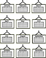 Clipart of a month of a calendar vector Clipart of a month of a calendar - ClipartFest vector