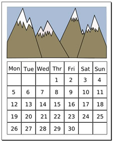 Clipart of a month of a calendar clip art transparent library December Calendar Clipart - Clipart Kid clip art transparent library
