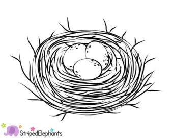 Clipart of a nest black and white clip art download Bird Nest Black And White Clipart - Clipart Kid | Fonts, borders and ... clip art download