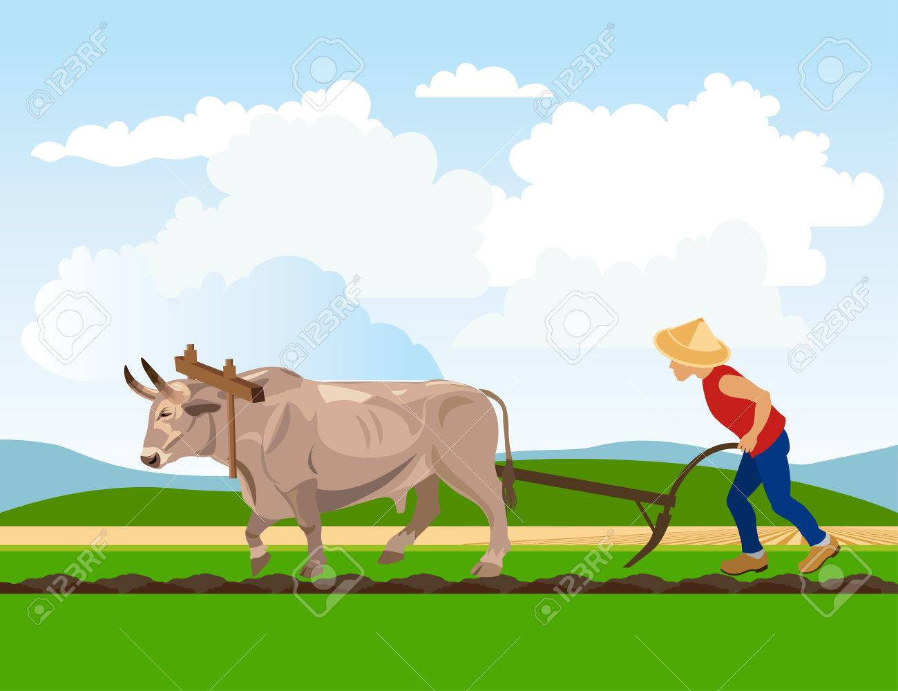 Clipart of a ox with a plow without a wip svg transparent download Ox clipart agriculture indian - 43 transparent clip arts, images and ... svg transparent download