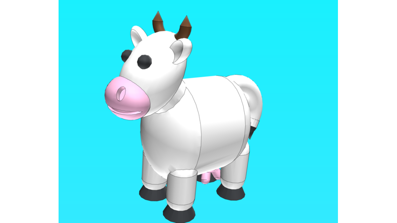 Clipart of a ox with a plow without a wip clipart royalty free library Cattle - 3D Animal clipart royalty free library