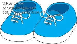 Clipart of a pair of baby booties transparent library Royalty Free Clipart Illustration of Newborn Baby Shoes transparent library