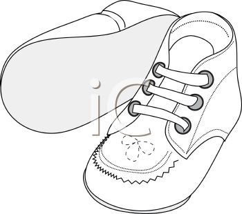 Clipart of a pair of baby booties graphic transparent baby shoe Colouring Pages | coloring pages | Coloring pages ... graphic transparent