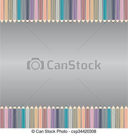 Clipart of a pencil gray background clip royalty free Varicolored color pencils set isolated on gray background. Office supplies. clip royalty free