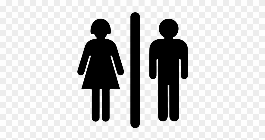 Woman clipart bathroom sign clip freeuse Man And Woman Sign Vector Png Files - Girl Bathroom Sign Clipart ... clip freeuse