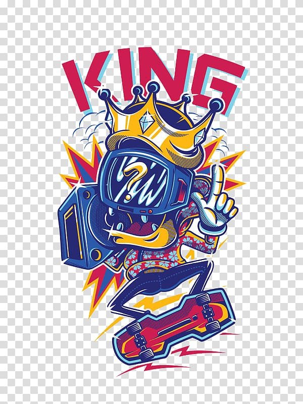 Clipart of a person pulling someone shirt graphic library stock King , T-shirt Logo Graphic design, TV king transparent background ... graphic library stock