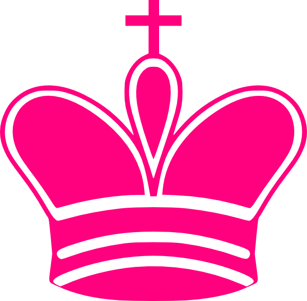 Pink clip art at. Crown clipart free