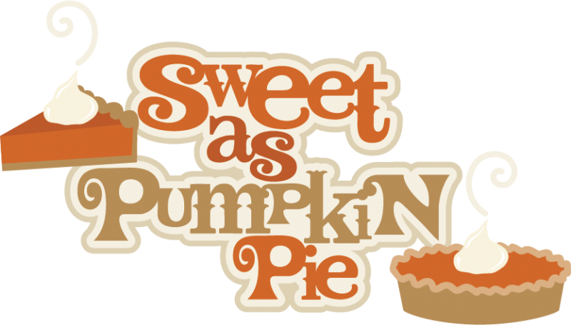 Clipart pumpkin pie banner Sweet As Pumpkin Pie SVG scrapbook title pumpkin pie svg cut file ... banner