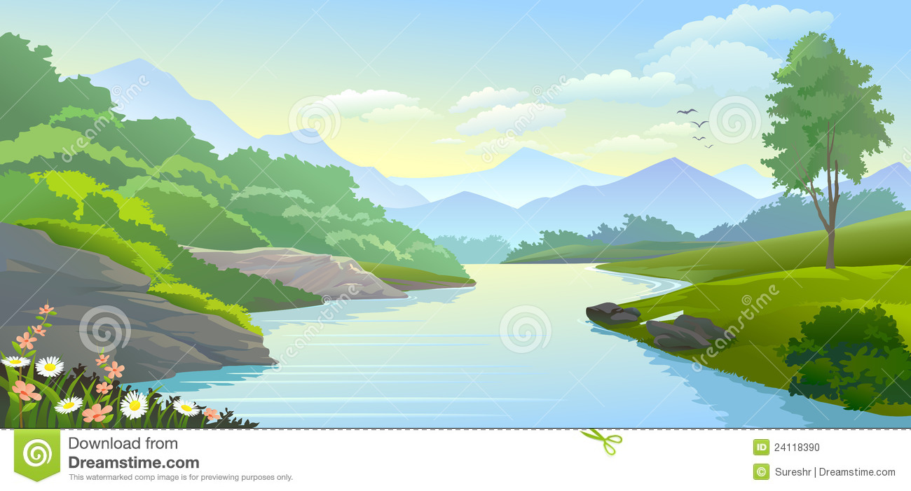 Clipart of a river svg free Running River Clipart - Clipart Kid svg free