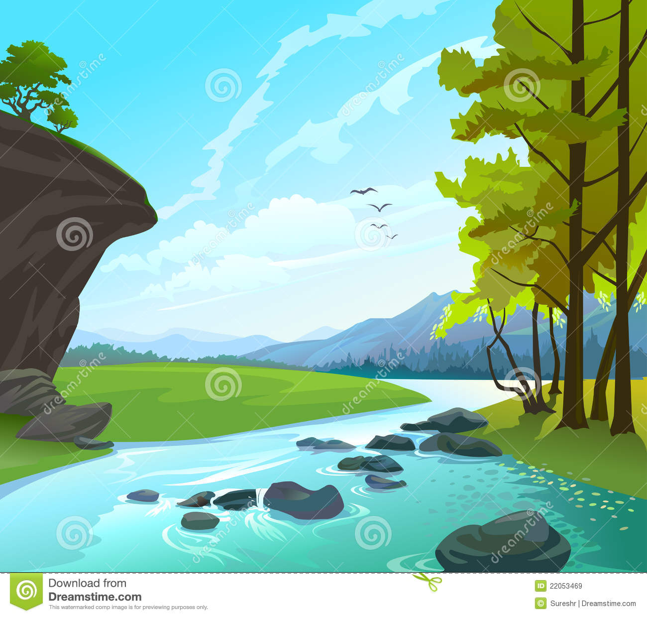 Clipart of a river svg free download River And Trees Clipart - Clipart Kid svg free download