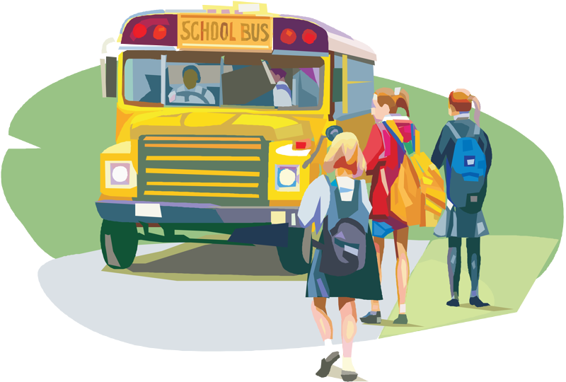 School bus clipart free jpg black and white library DPS Urges Motorists to be Cautious as School Resumes and Buses Board | jpg black and white library