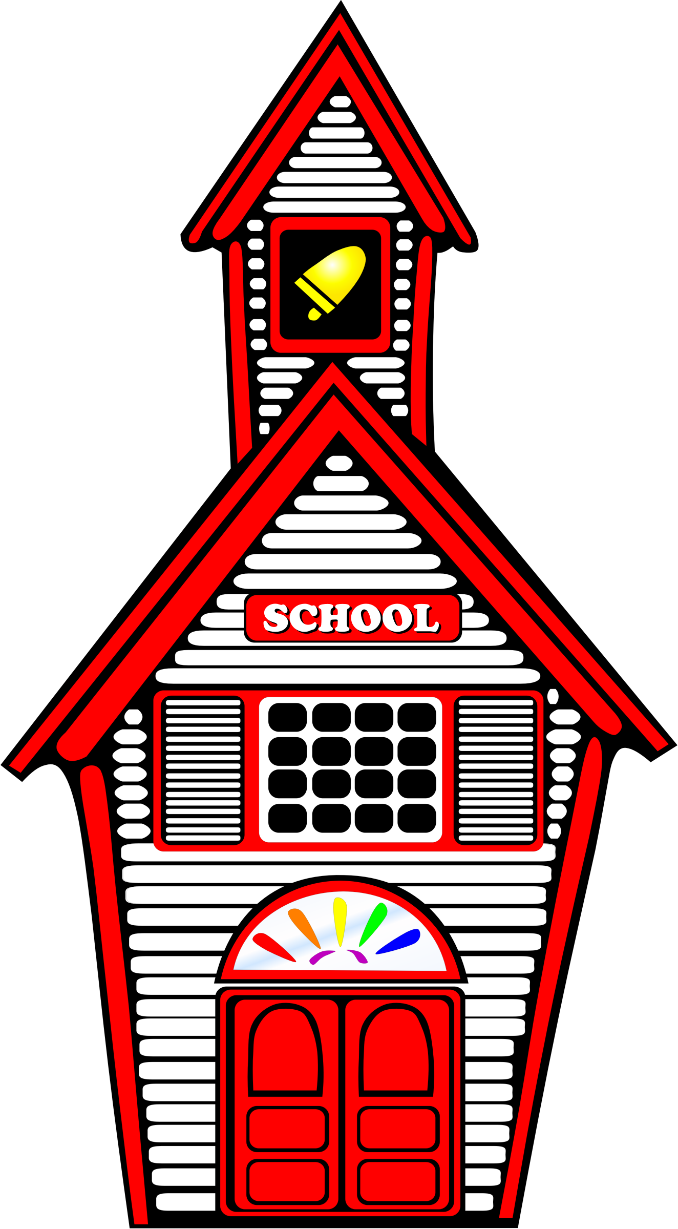 Clipart school house freeuse download Clipart - White Schoolhouse freeuse download