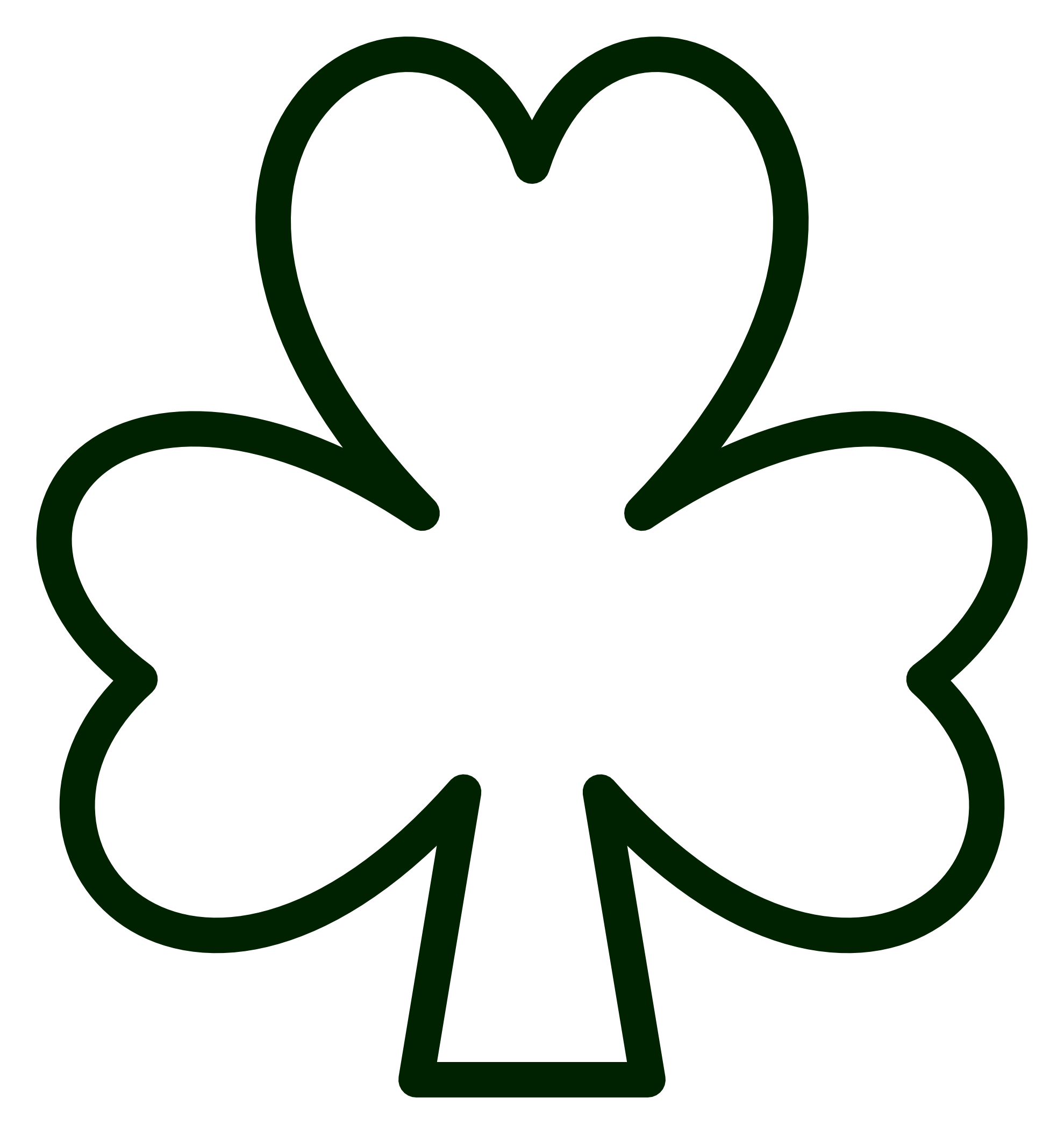 Shamrock clipart photos graphic royalty free library shamrock outline clipart | Quilt blocks | Shamrock template ... graphic royalty free library