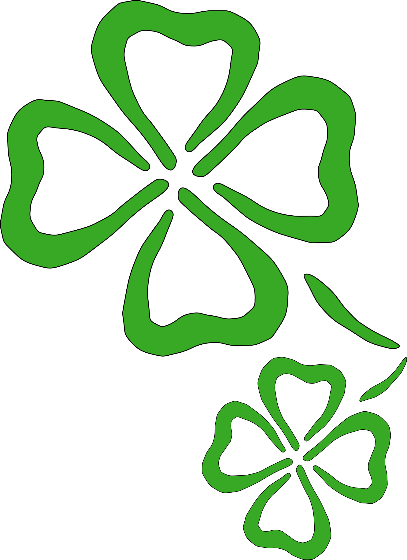 Clipart of a shamrock jpg black and white download Clipart Shamrock - ClipArt Best - ClipArt Best | Basement | Shamrock ... jpg black and white download