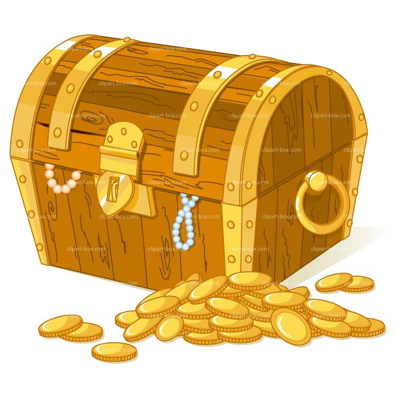 Clipart of a ship carrying gold coins banner black and white download Treasure Box Clipart - Clipart Kid   Gift Ideas   Treasure chest ... banner black and white download