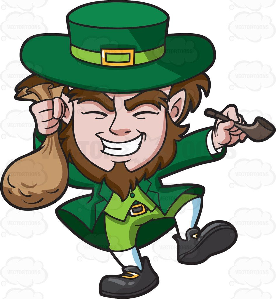 Clipart of a ship carrying gold coins svg royalty free download A giddy leprechaun with a bag of gold coins #cartoon #clipart ... svg royalty free download