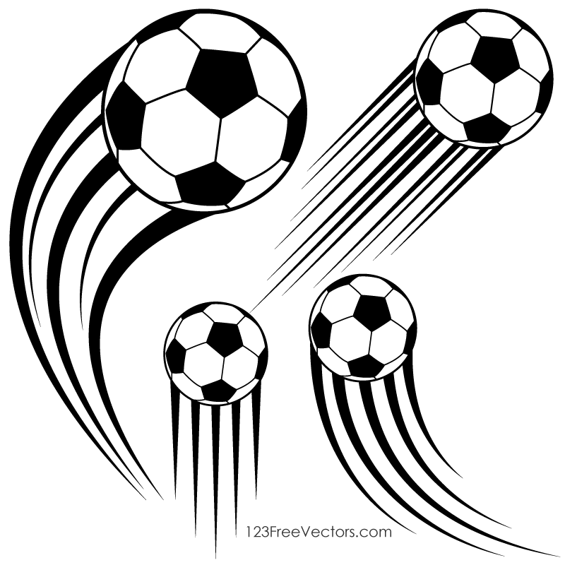 Clipart of a soccer ball clipart black and white download Soccer Ball in Motion Clipart | 123Freevectors clipart black and white download
