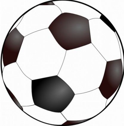 Clipart of a soccer ball banner black and white library Soccer ball clip art free 2 – Gclipart.com banner black and white library