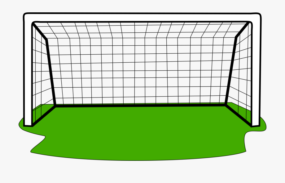 Clipart of a soccer ball and net