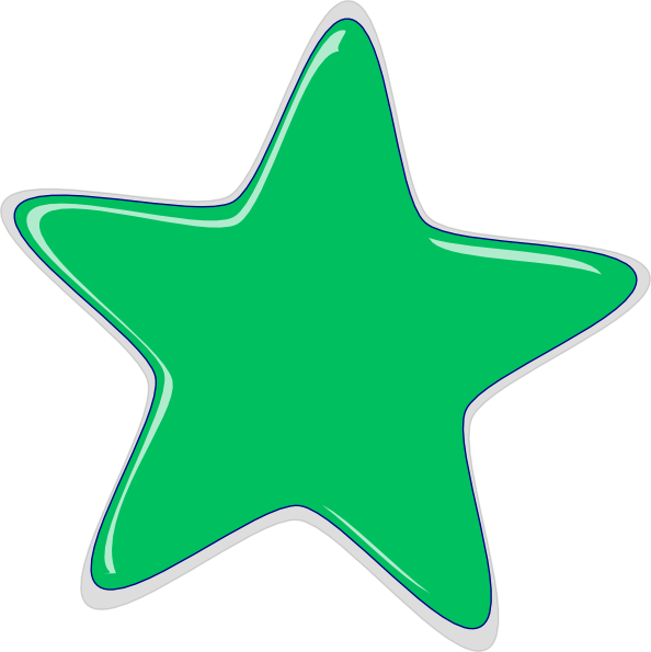 Small star clipart picture black and white stock Green Star Clip Art at Clker.com - vector clip art online, royalty ... picture black and white stock