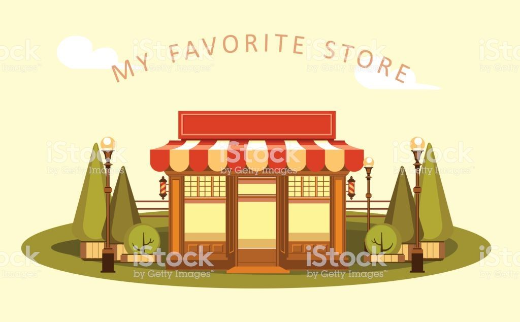 Clipart of a store banner download Vector clipart Fun and leisure park facade of a small ice cream shop ... banner download