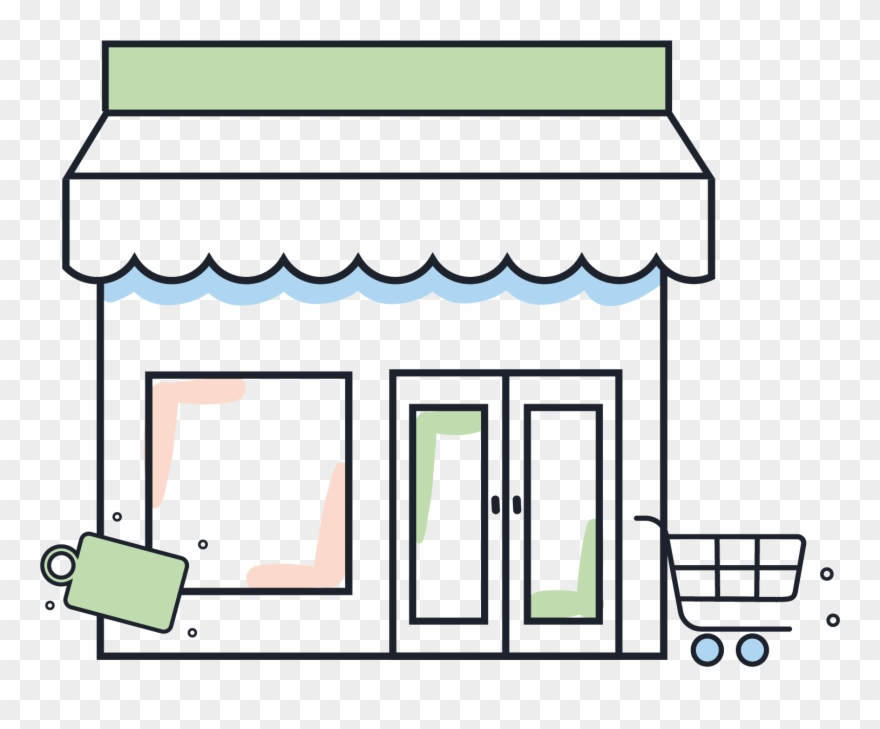 Clipart of a store svg freeuse Illustration Of A Retail Store Clipart (#4938253) - PinClipart svg freeuse