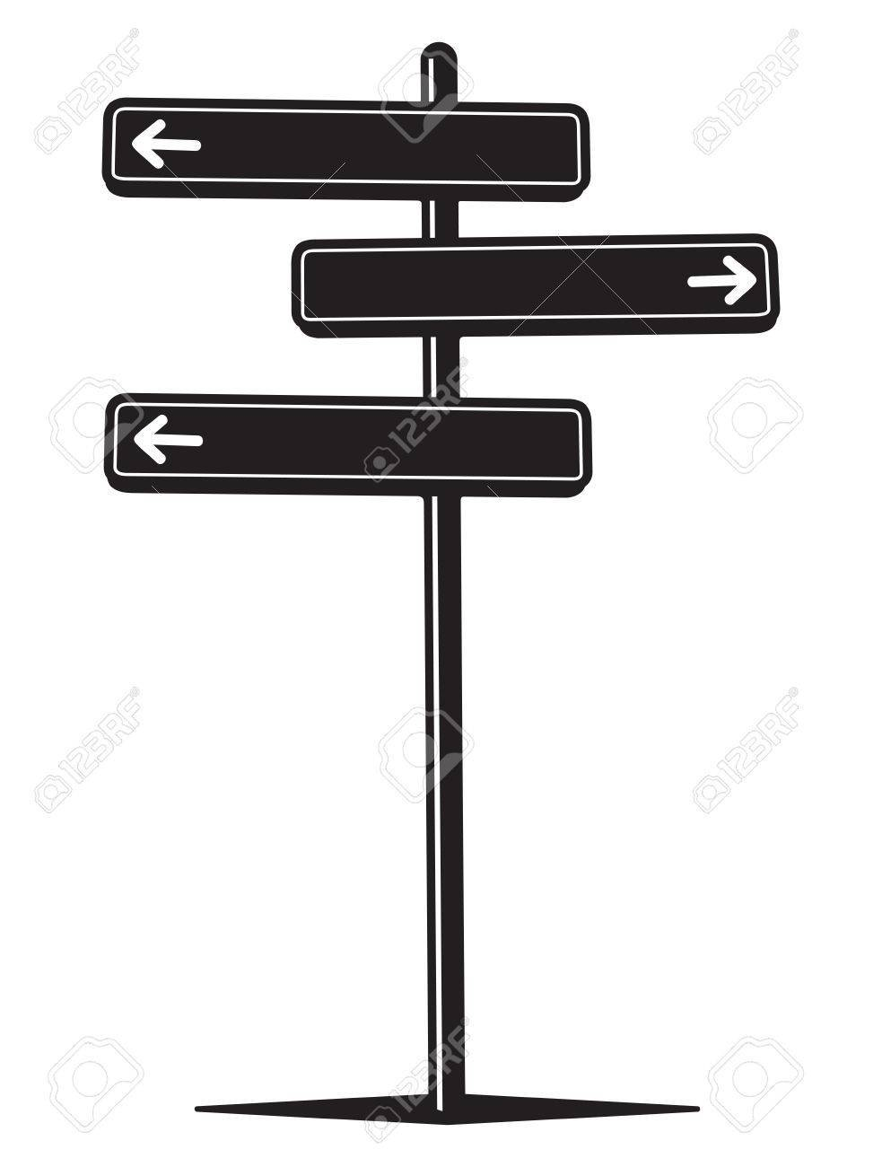 Clipart of a street sign black and white picture freeuse library Blank street sign clipart black and white 5 » Clipart Portal picture freeuse library