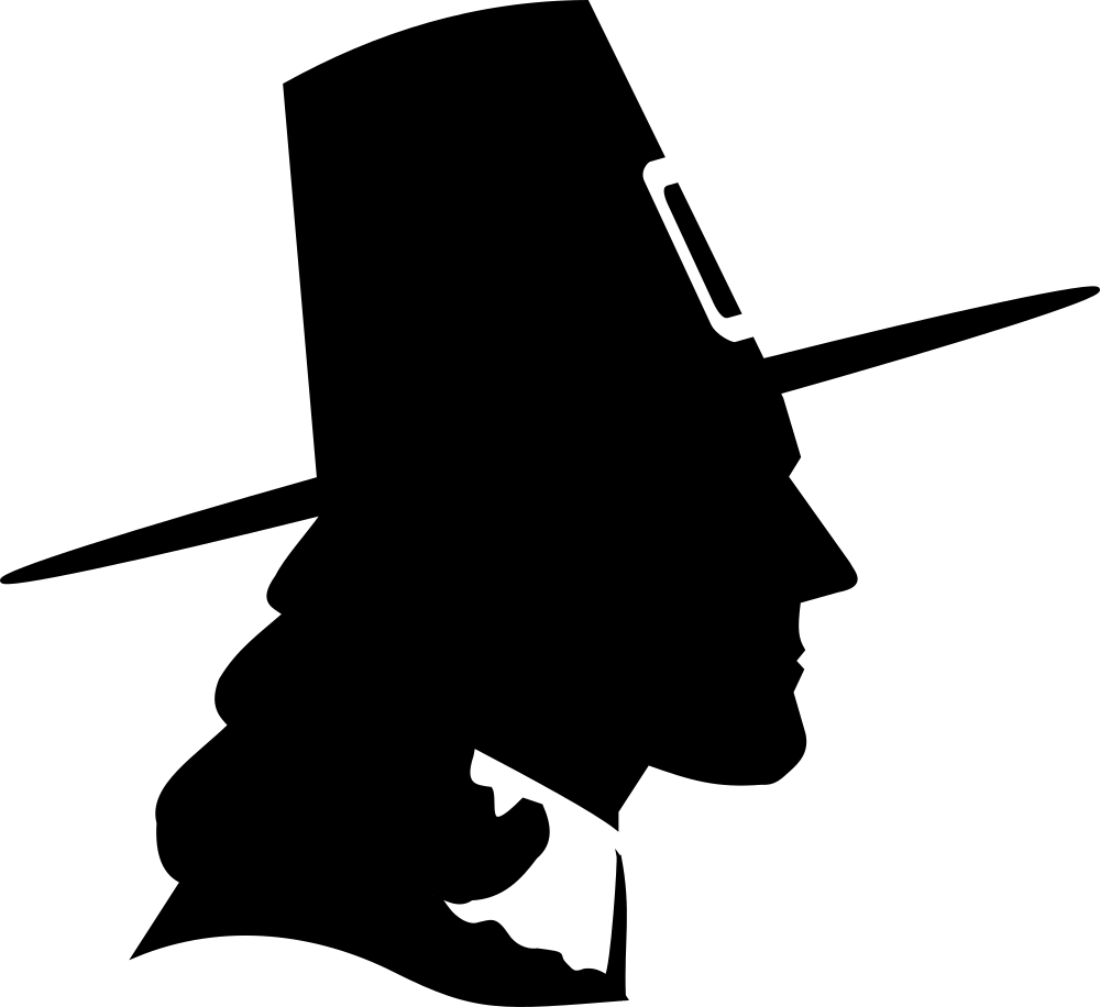 Clipart of a turkey sillouette image download OnlineLabels Clip Art - Puritan Silhouette Profile Dingbat image download