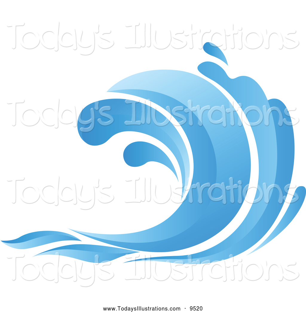 Clipart of a wave picture free Clipart of a Blue Ocean Wave by Vector Tradition SM - #9520 picture free