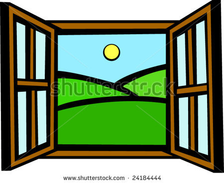 Clipart of a window vector library Open the window clipart 4 » Clipart Station vector library