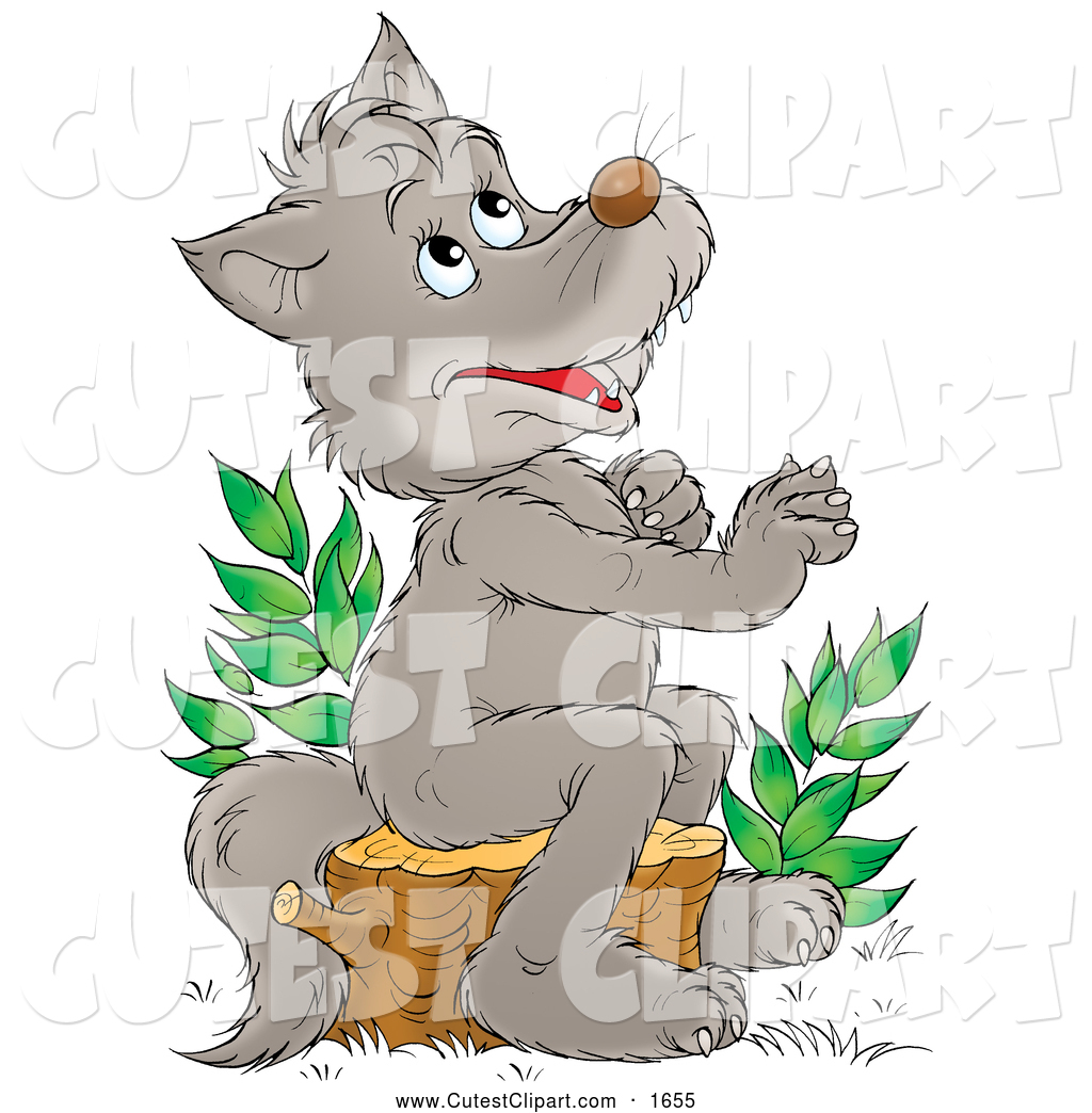 Clipart of a wolf against a tree png library download Clipart of a wolf against a tree - ClipartFest png library download