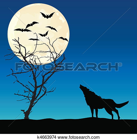 Clipart of a wolf against a tree png transparent library Clipart of a wolf against a tree - ClipartFest png transparent library