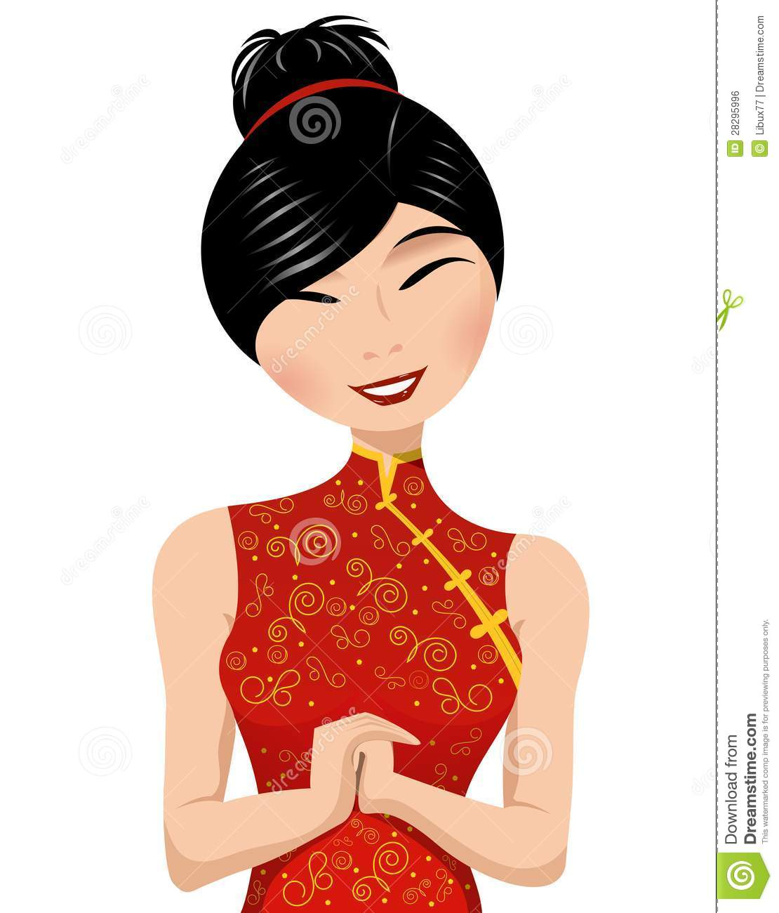 Clipart of a woman and a girl clip stock Chinese Girl Clipart - Clipart Kid clip stock