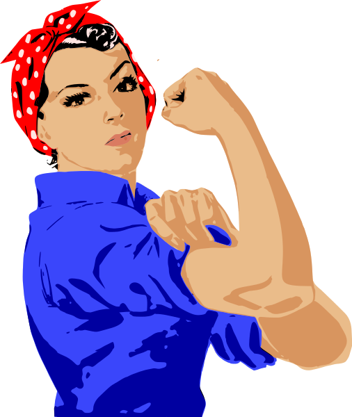 Clipart of a woman and a girl svg royalty free library Girl Muscles Clipart - Clipart Kid svg royalty free library