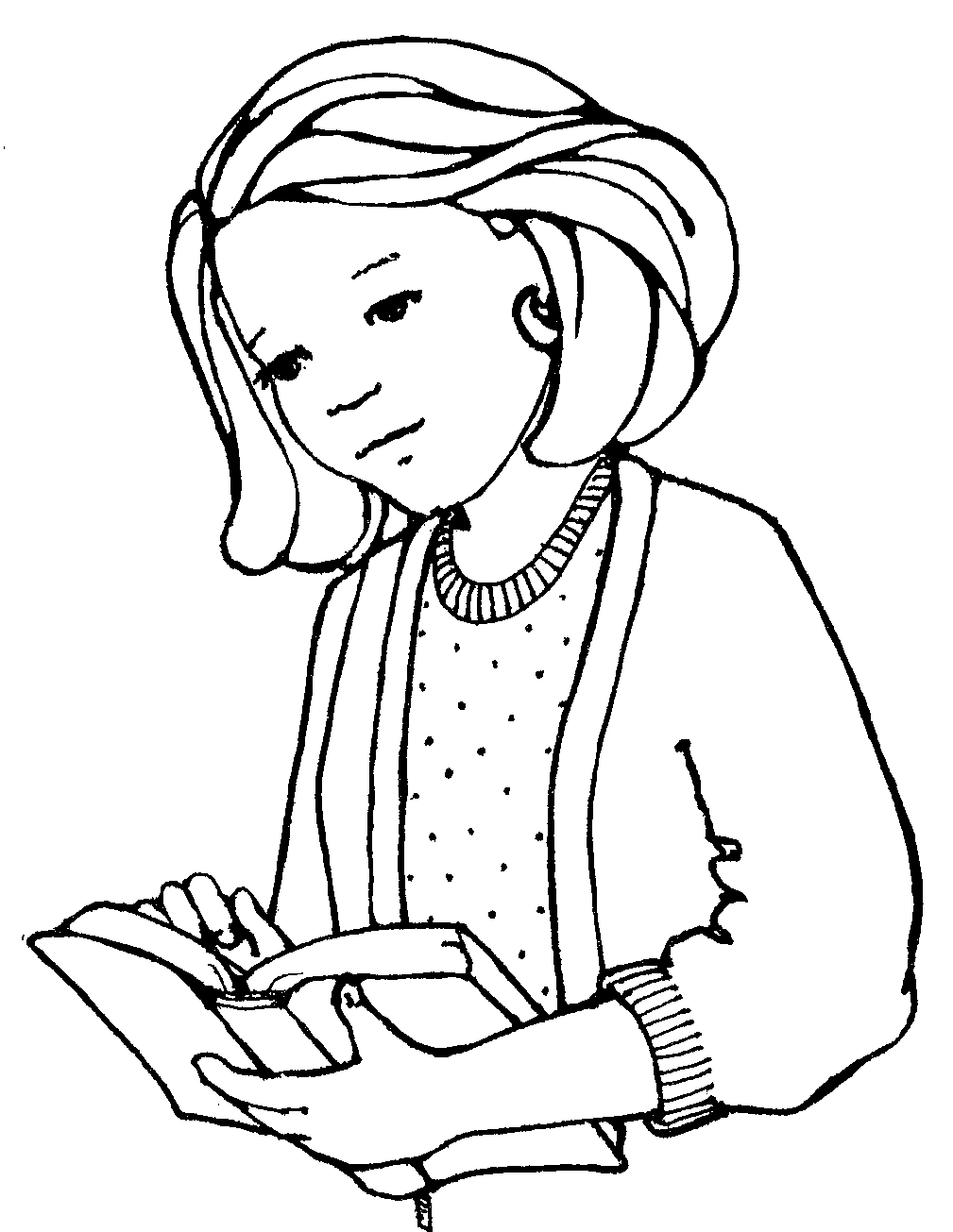 Clipart of a woman and a girl freeuse download Girl reading scriptures clipart - ClipartFest freeuse download