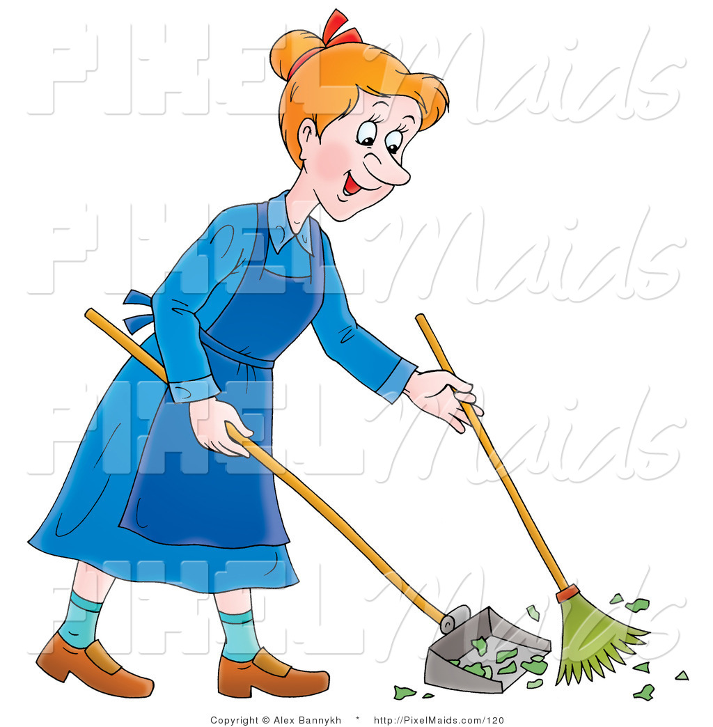 Clipart of a woman on a broom
