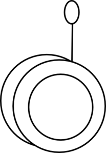Yo-yo clipart black and white vector black and white stock Yo-yo Outline Clip Art at Clker.com - vector clip art online ... vector black and white stock